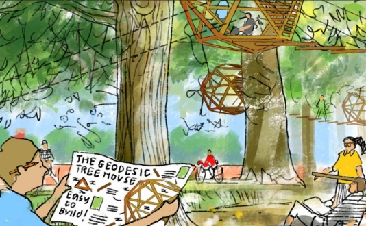 Design Lab: Drawing Treehouses Co⁠-⁠created with Foster & Partners