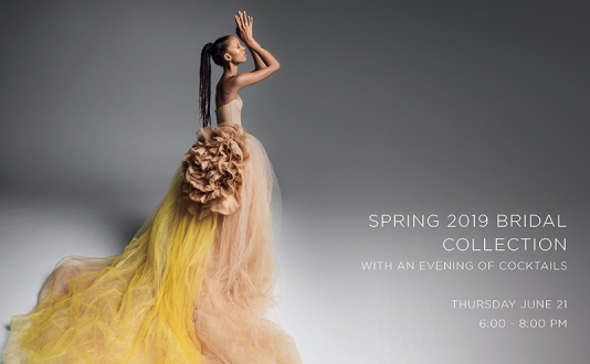 Spring 2019 Bridal Collection at Vera Wang in Union Square, San Francisco