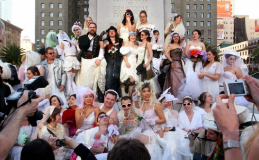 """Brides of March"" 2020 Wedding Dress Pub Crawl"