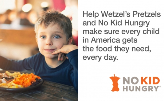 No Kid Hungry at Wetzel's Pretzels in Union Square, San Francisco