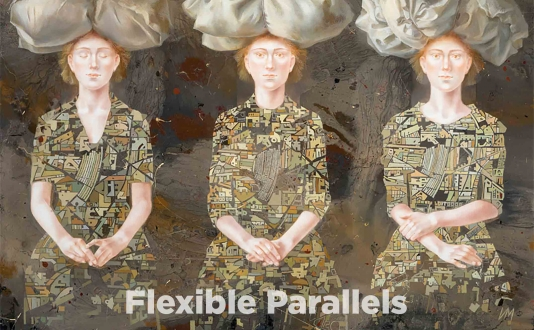 Flexible Paralles by Igor & Marina | Fragments by Alejandro Rivera at the Caldwell Snyder Gallery in Union Square, San Francisco
