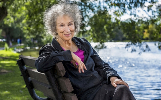 Margaret Atwood at Lowell High's Carol Channing Theater