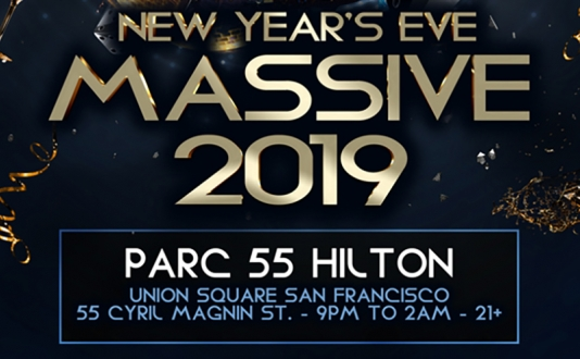 NYE Massive 2019 Parc 55 Hilton Union Square - 5 Cities-1 Night at Parc 55 Hilton San Francisco in Union Square