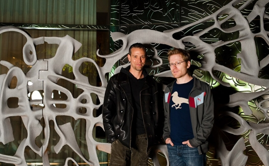 Adam Pascal and Anthony Rapp