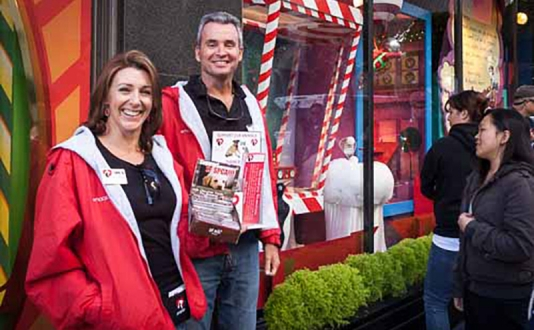 SF SPCA & Macy's Holiday Window Unveilng in Union Square, San Francisco