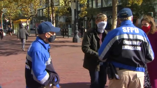 Community Ambassadors Help Stores, Shoppers in SF's Union Square