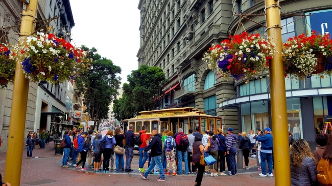 Cable Car Turnaround, Union Square, San Francisco