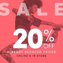 20% OFF Already Reduced Prices Online and In-store (No Code Needed) at Athleta in Union Square, San Francisco