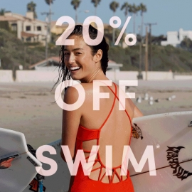 20% Off Swim (Code: SWIM20) at Athleta in Union Square, San Francisco