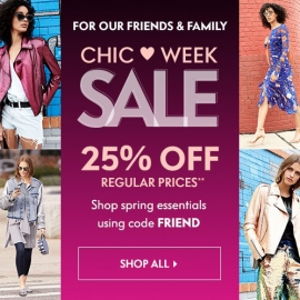 Chic ❤ Week Sales: 25% OFF Regular Prices (Code: FRIEND) at Neiman Marcus in Union Square, San Francisco