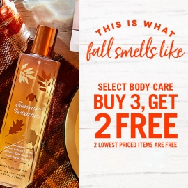Buy 3 Get 2 FREE Selected Body Care at Bath and Body Works in Westfield San Francisco Centre in Union Square