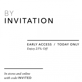 By Invitation Only 25% OFF (Code: INVITED) at VINCE in Union Square, San Francisco