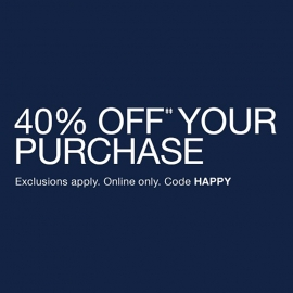 40% OFF Your Purchase (Code: HAPPY) at GAP in Union Square, San Francisco