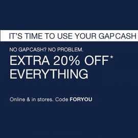 Gap for You: Extra 20% Off Everything (Code: FORYOU) at GAP in Union Square, San Francisco
