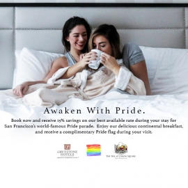 SF Pride Stay and Play Package (15% Saving+Breakfast+Wine Reception)