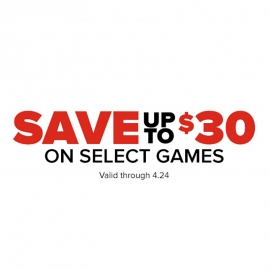 Save Up to $30 on Selected Games at Gamestop in Union Square, San Francisco