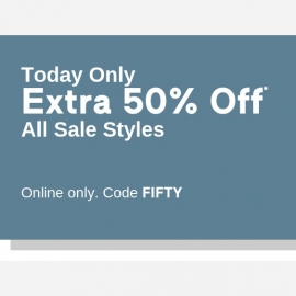 Extra 50% OFF on All Sale Styles - Only Today at GAP in Union Square, San Francisco