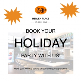 Book your Holiday LUNCH Party & Receive a Complimentary Welcome Drink! at Herlen Place in Union Square, San Francisco