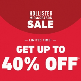 Mid Season Sale of Up to 40% OFF at Hollister Co. in Union Square, San Francisco