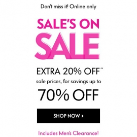 Extra 20% Off Sale Items at Neiman Marcus in Union Square, San Francisco
