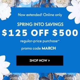 Spring Into Savings: $125 OFF $500+ (Code: MARCH) at Neiman Marcus in Union Square, San Francisco