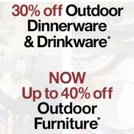 Up to 40% OFF Outdoor Furniture + 30% OFF Outdoor Dine and Drink Wares at Crate and Barrel in Union Square, San Francisco