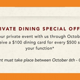 Private Dining Special Offer at Farallon in Union Square, San Francisco