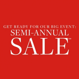 Semi Annual Sale Up to 40% off Entire Store at the Brooks Brother in Union Square, San Francisco