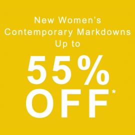 New Women's Contemporary Markdowns up to 55% OFF at Saks Fifth Avenue in Union Square, San Francisco