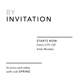 25% OFF Invites Only! at VINCE in Union Square, San Francisco