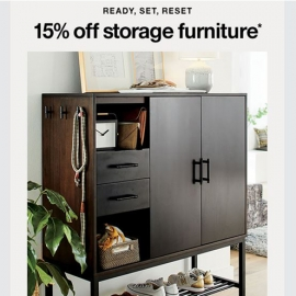 15% Off Storage Furniture