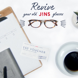 Revive your old JINS glasses in-store! at JINS in Union Square, San Francisco