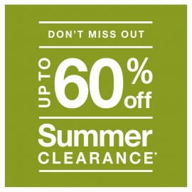 Summer Clearance - Up to 60% Off! at Crate and Barrel in Union Square, San Francisco