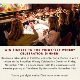 Reserve & Dine to Win Tickets to Winery! at Farallon in Union Square, San Francisco