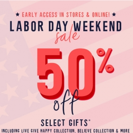 Labor Day Weekend Sale 50% OFF Selected Gifts