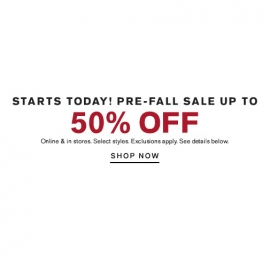 Pre-Fall Sale Up to 50% OFF