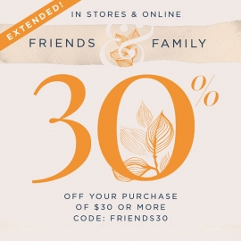 Friends & Family: 30% Off Your Purchase (Code: FRIENDS30)