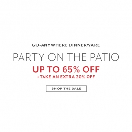Party on the Patio | Up to 60% OFF + 20% Extra!
