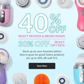 40% OFF Selected Devices & Brush Heads