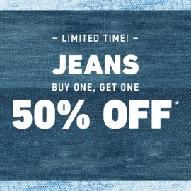 JEANS: Buy One Get One 50% OFF at Hollister in Union Square, San Francisco