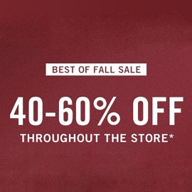 Best of Fall Sale: 40%-60% OFF Entire Store at Abercrombie & Fitch in Union Square, San Francisco