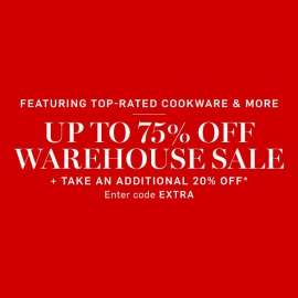 Up to 75% OFF Warehouse Sale PLUS Additional 20% OFF (Code: EXTRA) at William-Sonoma in Union Square, San Francisco